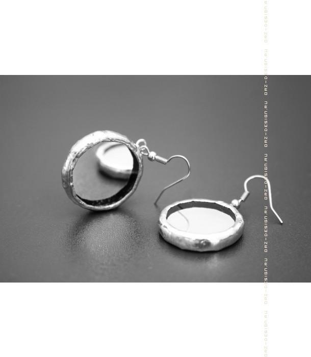 Серьги круглые Зеркала (пара)