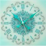 Настенные часы с кристаллами Swarovski Снежинка