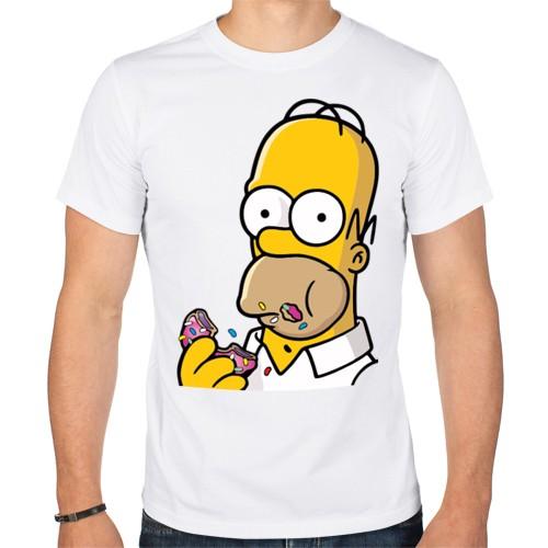 Мужская футболка Гомер с Пончиком