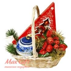 Подарочная корзина Новогодняя ёлочка