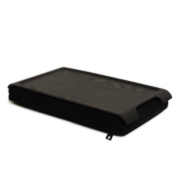 Подставка с деревянным подносом Laptray мини, венге/черная