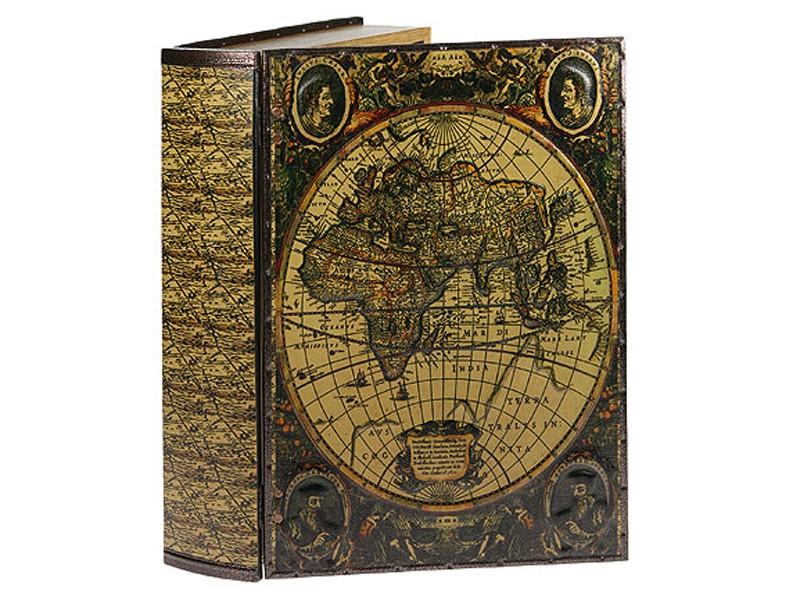 Шкатулка-книга Карта путешественников