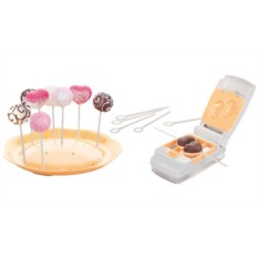 Набор для кейк-попсов (6 форм, 50 палочек, поднос)
