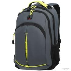 Серый с салатовыми вставками рюкзак Wenger School