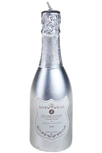Свеча Шампанское серебристая