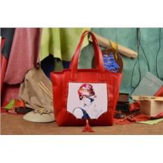 Красная сумка-шопер Крутая Одри Elole Design
