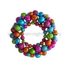 Елочная игрушка Венок из шариков