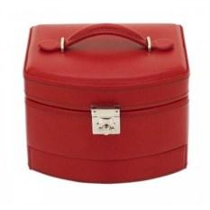Красная шкатулка для украшений с замком Champ Collection