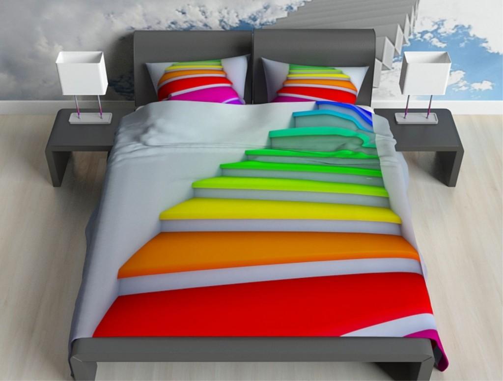 Комплект постельного белья Радужная лестница