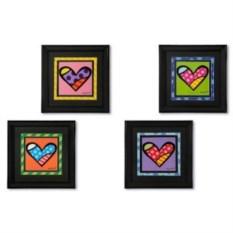 Постер Britto Hearts 2 в деревянной рамке