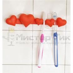 Держатель для зубных щеток Сердечки