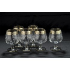 Набор хрустальных бокалов для бренди
