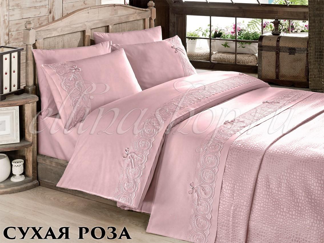 Комплект белья с покрывалом Сухая роза