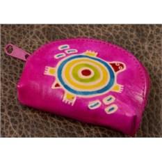 Монетница Socotra (Розовый, черепаха; тип 1; кожа)