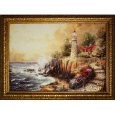 Картина Swarovski Береговой маяк, 50х70 см, кол-во кристаллов 2278
