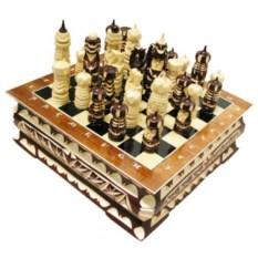 Резные шахматы Ларец 30х30 см