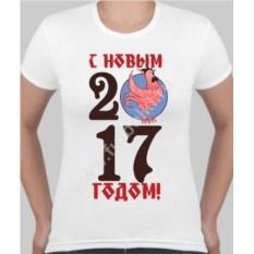 Женская футболка с петухом С новым 2017 годом