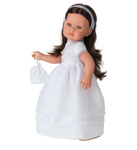 Кукла Белла. Первое причастие брюнетка 45 см, Juan Antonio