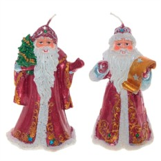 Новогодняя свеча Дед Мороз