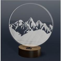 3D светильник Onilight Горы
