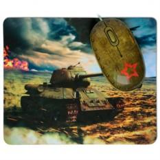 Оптическая мышь с ковриком Tank Battle