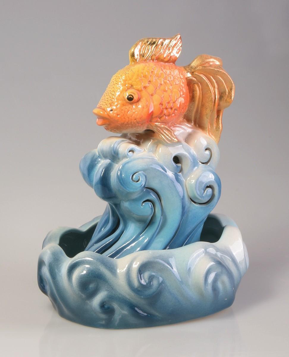 Настольный фонтан «Золотая рыбка»