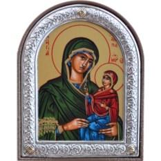 Серебряная икона Анна Праведная, мать Пресвятой Богородицы