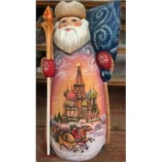 Игрушка Дед Мороз из дерева, высота 36 см
