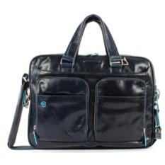 Мужская темно-синяя сумка для ноутбука Piquadro Blue Square