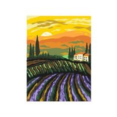 Картины по номерам «Лавандовый закат»