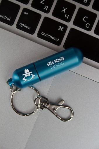 USB-флешка с вашим текстом Секретный агент на 4 гб