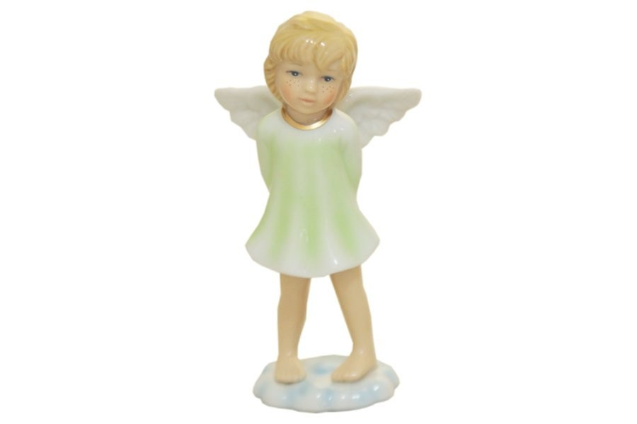 Статуэтка Ангел на облаке (в зеленом)