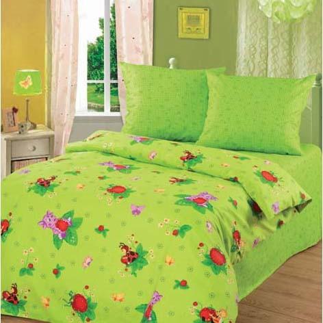 Комплект постельного белья «Лунтик и клубничка»