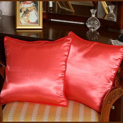 Подушки декоративные, алые (2 шт)