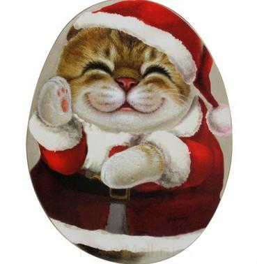 Подставки под кружку с кошкой Белла «Новый год»