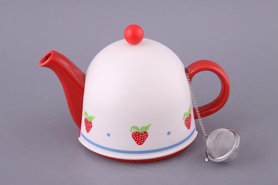 Заварочный чайник с пласт.крышкой и мет. фильтром
