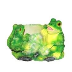 Кашпо Лягушки на капусте