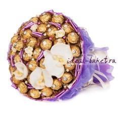 Сиреневый букет из конфет Фантазия