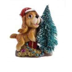 Фигурка Собака с елкой