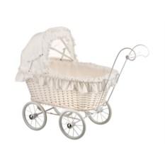 Плетеная коляска для кукол Leiteng Artwares (цвет - белый)