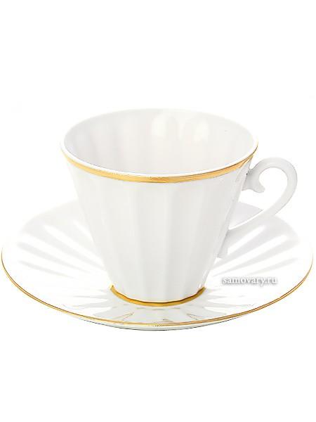 Фарфоровая чайная чашка с блюдцем Белоснежка