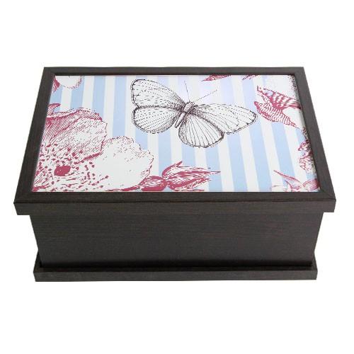 Шкатулка Бабочки на голубом
