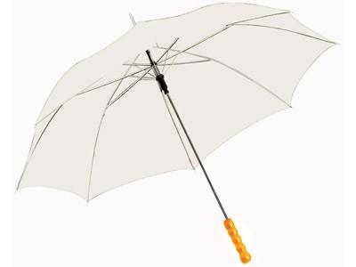 Полуавтоматический зонт-трость, белый