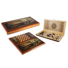 Настольная игра шашки и нарды Рыцарь