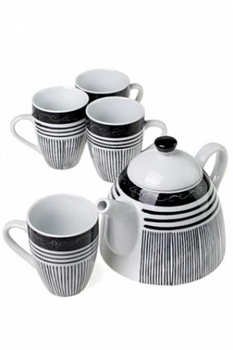 Набор чайный Полосы (4 персоны)