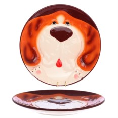 Тарелка Рыжий пёс