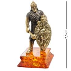 Фигурка Рыцарь. Славянский воин (латунь, янтарь)