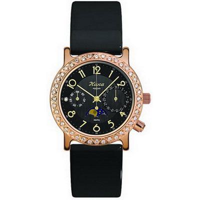 Женские золотые часы НИКА «Лунник»