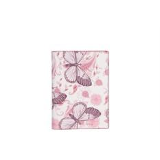 Женская обложка для документов Leo Ventoni Розовые бабочки