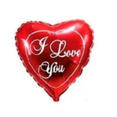 Фольгированное сердце love you